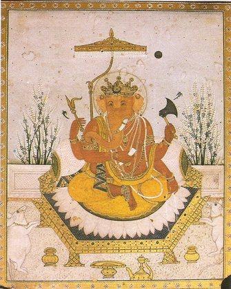 Ganesha_Nurpur_miniature_circa_1810