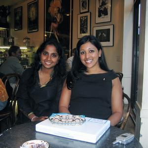 Saheli and  A N N A, last SF meetup at Greco